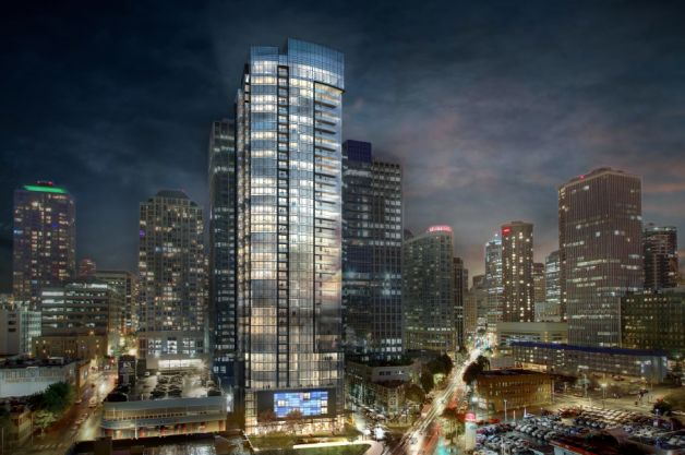 GID is getting in the 40-story tower game at Eighth and Lenora Street, as you can see with this rendering.
