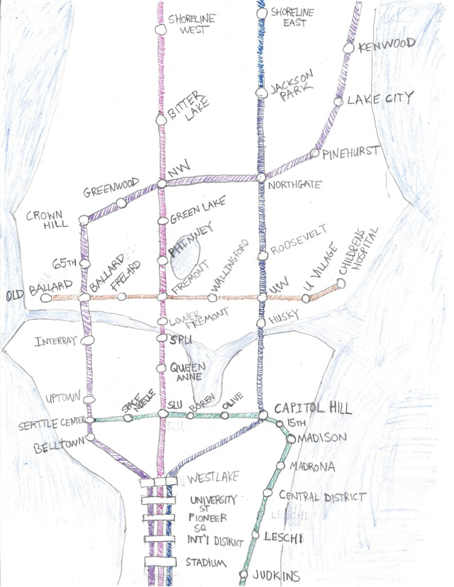 Seattle Rail Map of the Future
